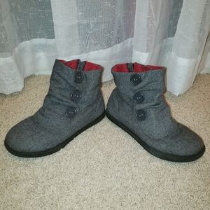 Sonoma Girl's Grey Ankle Boots Size 3 EUC
